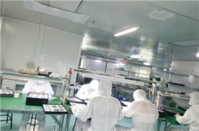 The final inspecting area of TP+LCD assembly